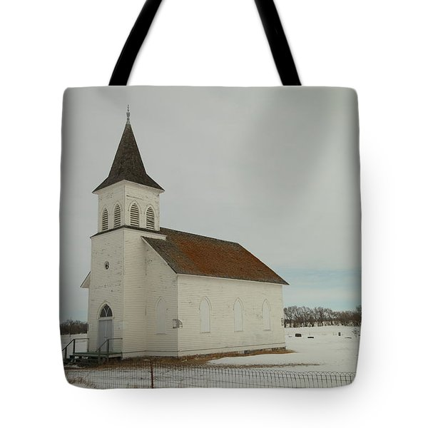 AN OLD CHURCH IN NORTH DAKOTA Tote Bag by Jeff  Swan
