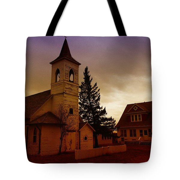 An Old Church In Williston North Dakota  Tote Bag by Jeff Swan