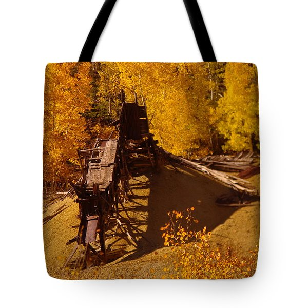 An Old Colorado Mine In Autumn Tote Bag by Jeff Swan