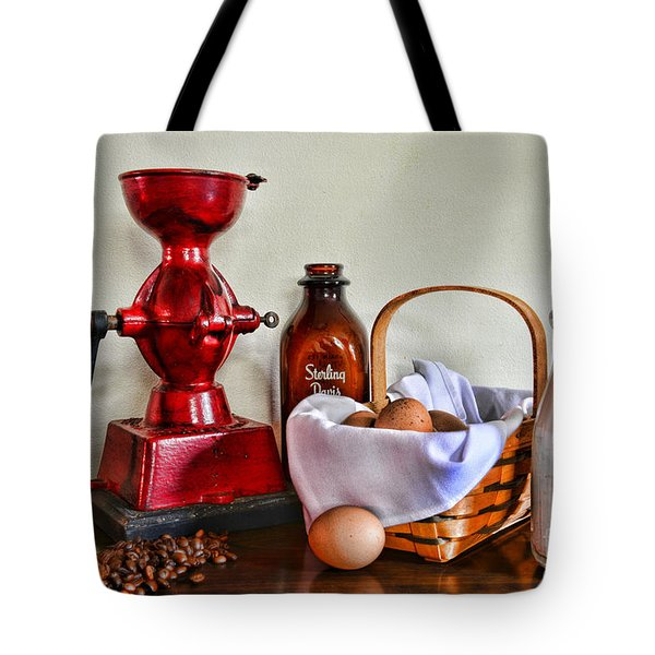 An Old Fashion Breakfast Tote Bag by Paul Ward