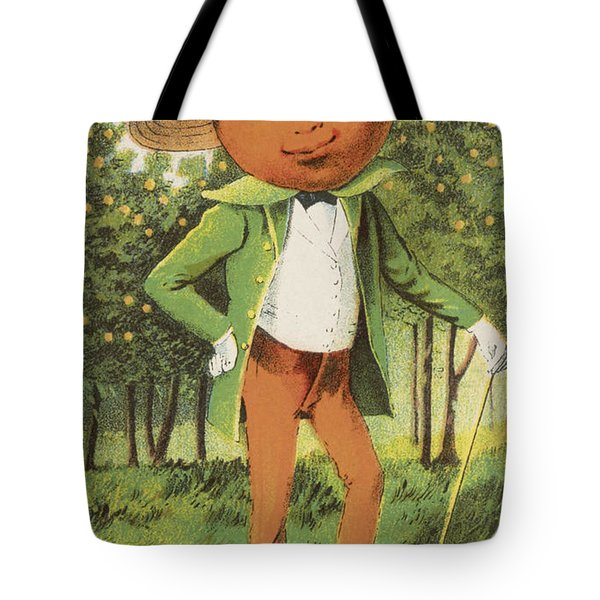 An Orange Man Tote Bag by Aged Pixel