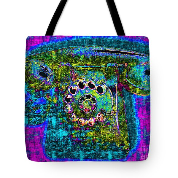Analog A-phone - 2013-0121 - V3 Tote Bag by Wingsdomain Art and Photography