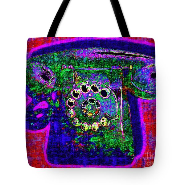 Analog A-phone - 2013-0121 - V4 Tote Bag by Wingsdomain Art and Photography