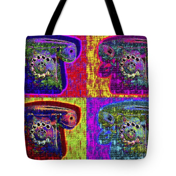Analog A-phone Four - 2013-0121 Tote Bag by Wingsdomain Art and Photography