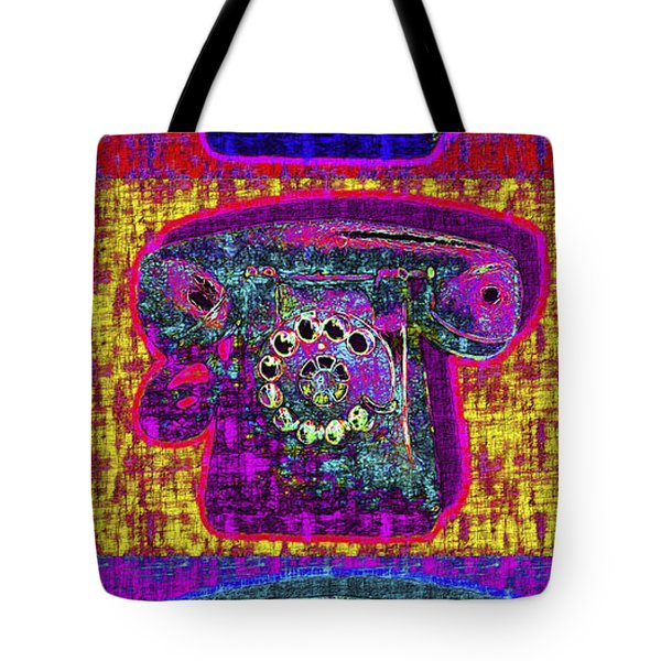 Analog A-phone Three - 2013-0121 Tote Bag by Wingsdomain Art and Photography