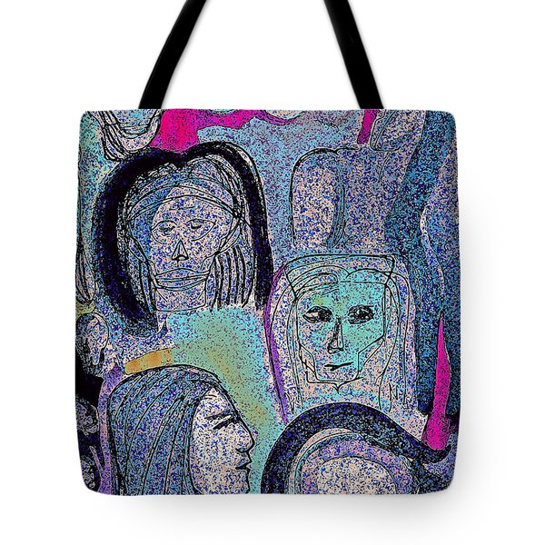 Ancestral Cave Tote Bag by First Star Art
