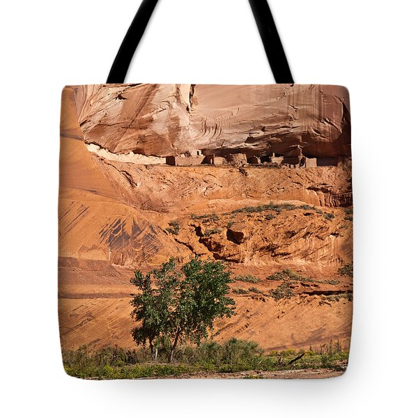 Ancient Anasazi Pueblo Canyon Dechelly Tote Bag by Bob and Nadine Johnston