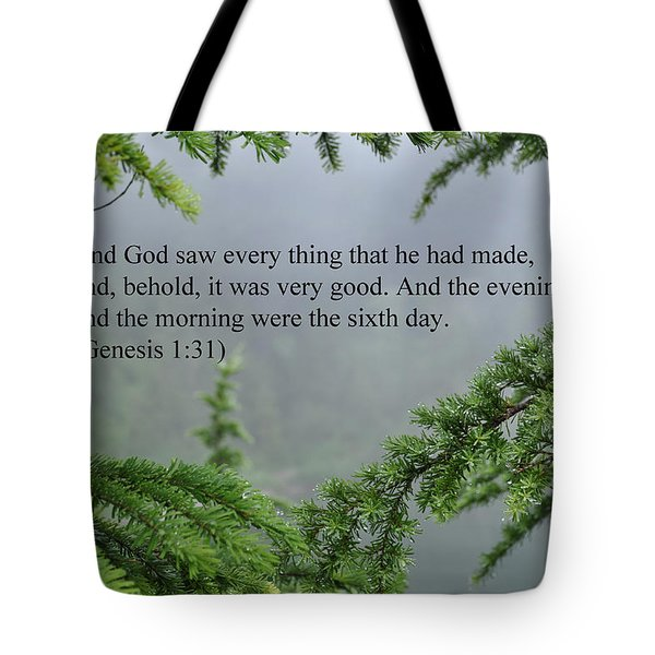 And God Saw Tote Bag by Roger Reeves  and Terrie Heslop