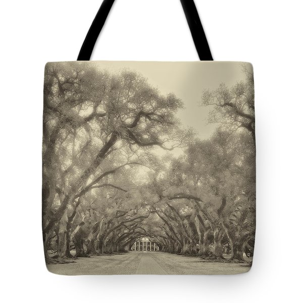 And Time Stood Still Sepia Tote Bag by Steve Harrington