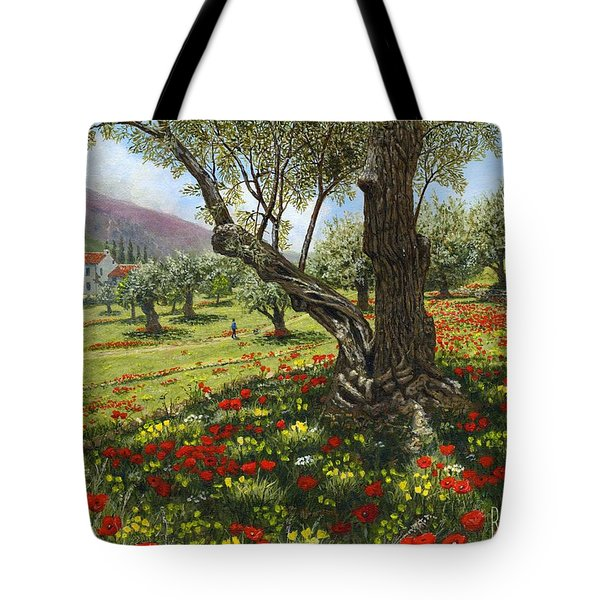Andalucian Olive Grove Tote Bag by Richard Harpum