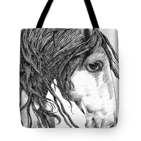 Andalusian Horse Tote Bag by Kate Black