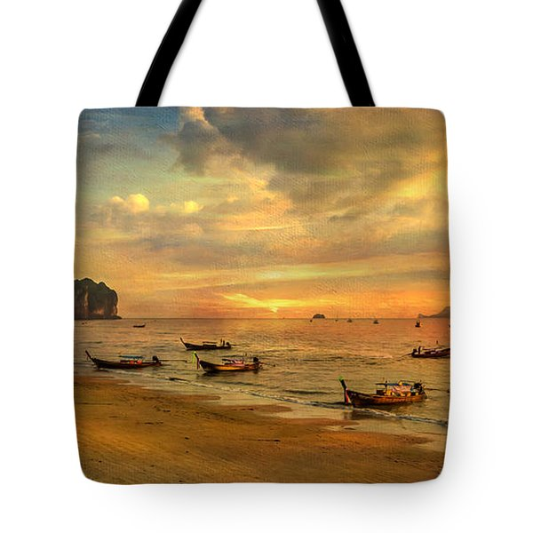 Andaman Sunset Tote Bag by Adrian Evans