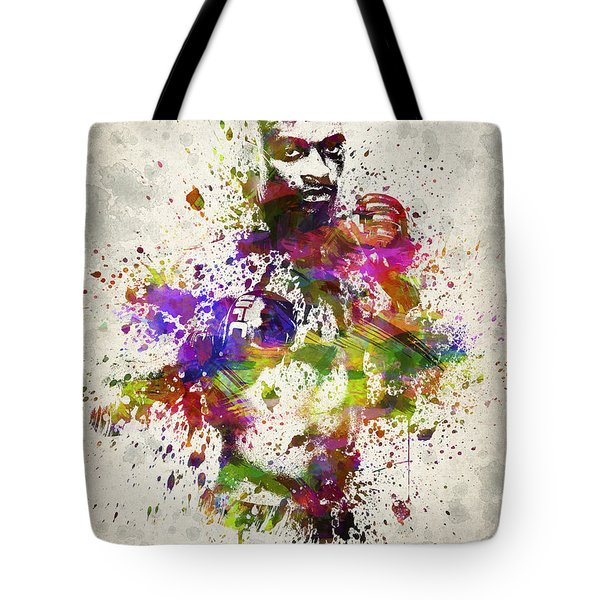 Anderson Silva Tote Bag by Aged Pixel