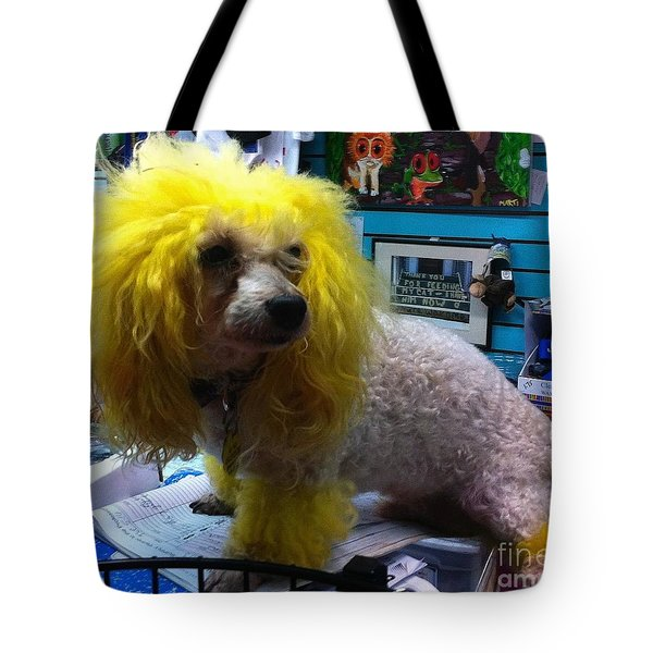 Andrew The Poodle Tote Bag by Saundra Myles