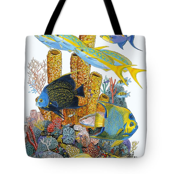 Angel Fish Reef Tote Bag by Carey Chen