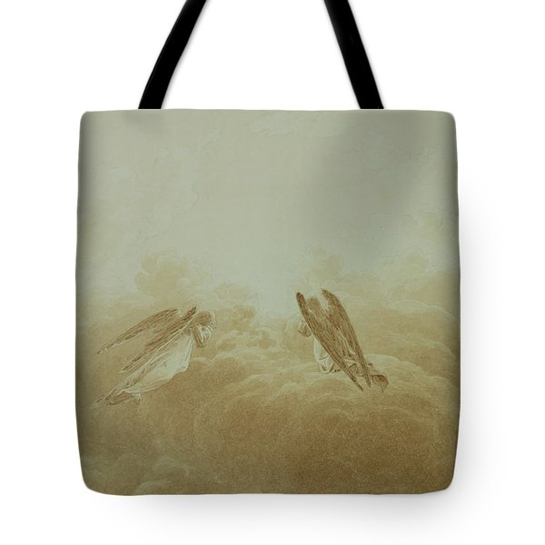 Angel In Prayer Tote Bag by Caspar David Friedrich