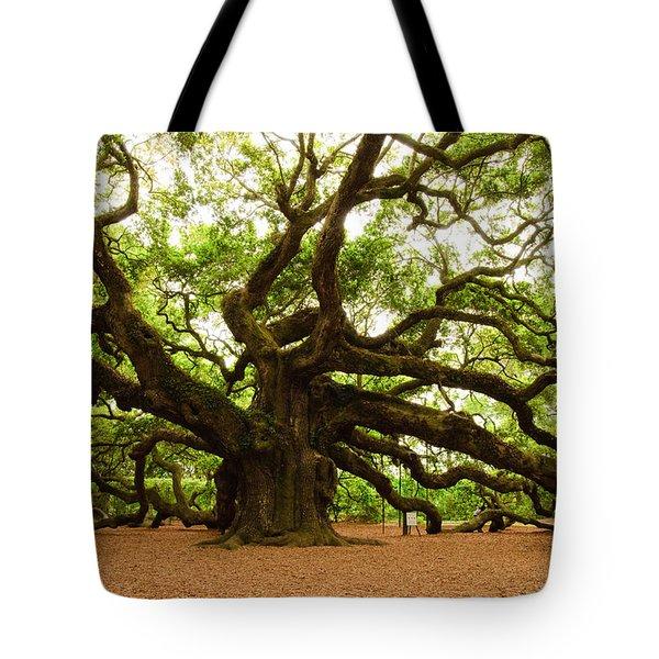 Angel Oak Tree 2009 Tote Bag by Louis Dallara