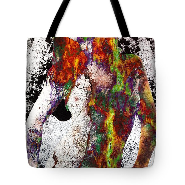 Angel Of Debris Tote Bag by Michael  Volpicelli