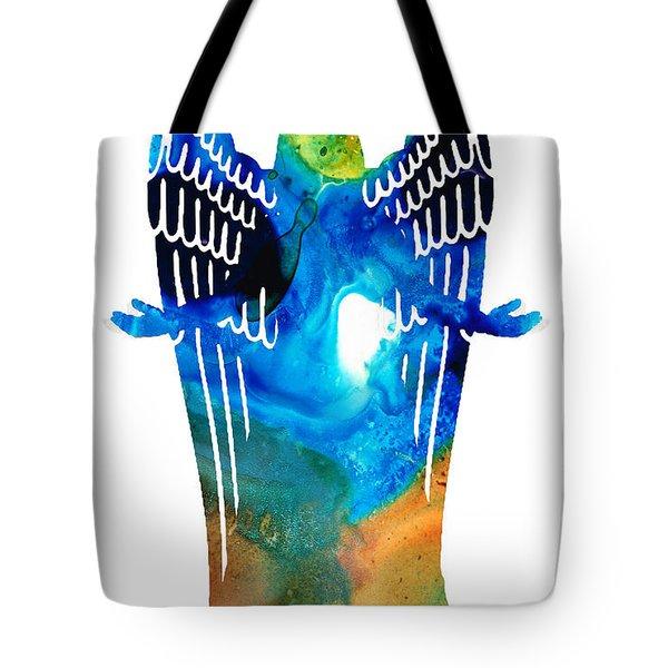 Angel of Light - Spiritual Art Painting Tote Bag by Sharon Cummings