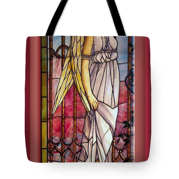 Angel Stained Glass Window Tote Bag by Thomas Woolworth