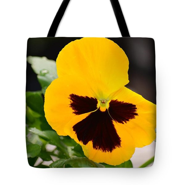 Angel Winged Pansy Tote Bag by Maria Urso