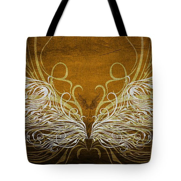 Angel Wings Gold Tote Bag by Angelina Vick