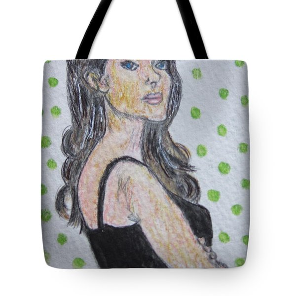 Angelina Jolie Tote Bag by Kathy Marrs Chandler