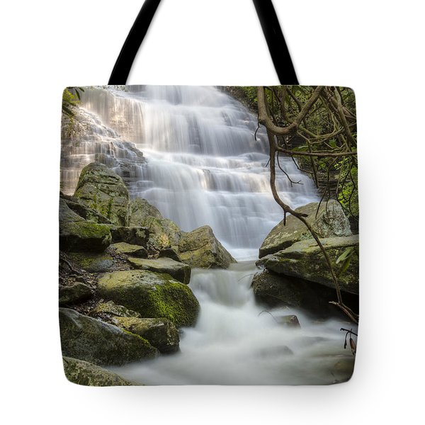 Angels at Benton Waterfall Tote Bag by Debra and Dave Vanderlaan