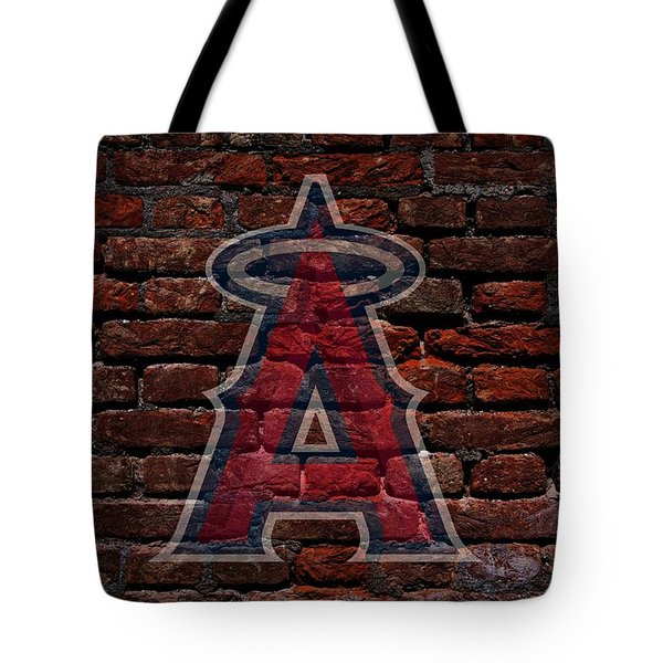 Angels Baseball Graffiti on Brick  Tote Bag by Movie Poster Prints