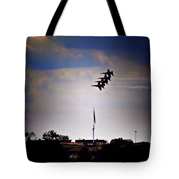 Angels Over Ft. Mchenry 2 Tote Bag by Robert McCubbin