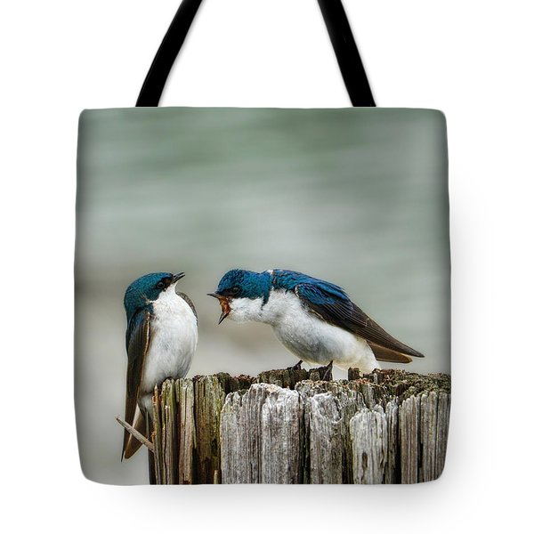 Angry Swallow Tote Bag by Jai Johnson