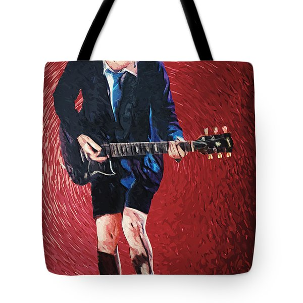 Angus Young Tote Bag by Taylan Soyturk