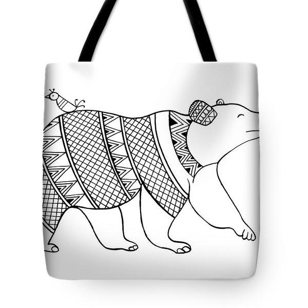 Animal Bear Tote Bag by Neeti Goswami
