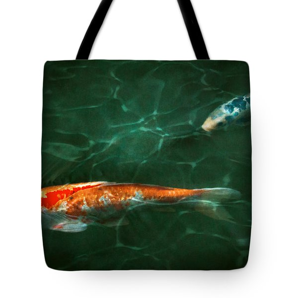 Animal - Fish - Koi - Another Fish Story Tote Bag by Mike Savad
