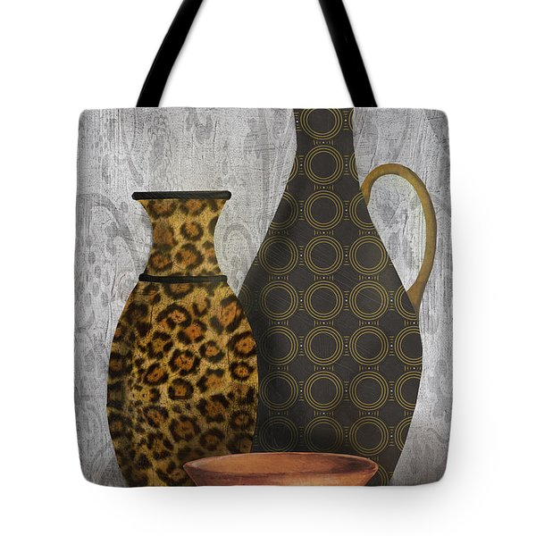 Animal Print Vase Still Life-b Tote Bag by Jean Plout