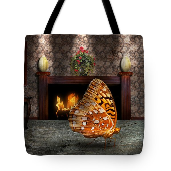 Animal - The Butterfly Tote Bag by Mike Savad