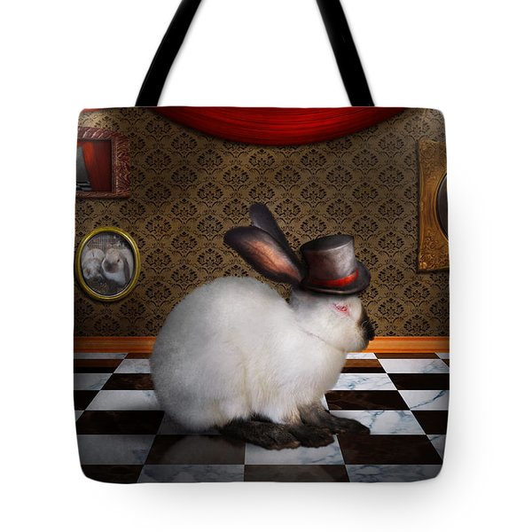 Animal - The Rabbit Tote Bag by Mike Savad