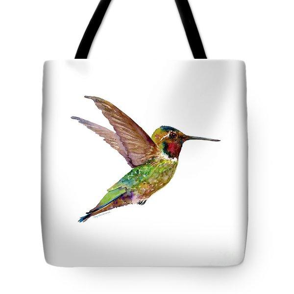 Anna Hummingbird Tote Bag by Amy Kirkpatrick