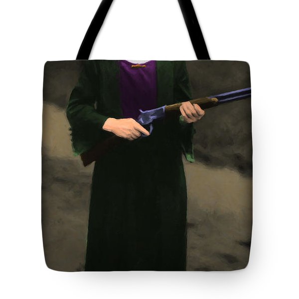Annie Oakley 20130514 Long Tote Bag by Wingsdomain Art and Photography