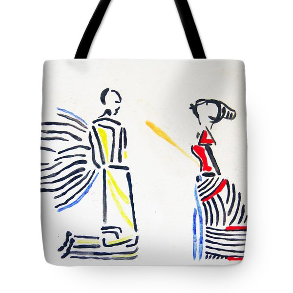 Annunciation Tote Bag by Gloria Ssali