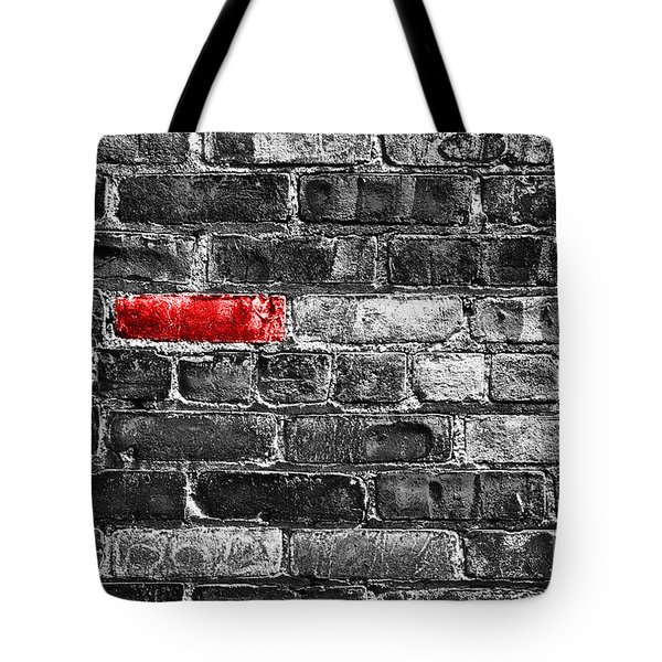 Another Brick In The Wall Tote Bag by Delphimages Photo Creations