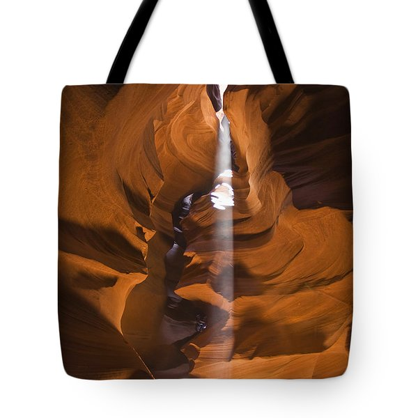 Antelope Canyon A Narrow Canyon Carved Tote Bag by Brian Guzzetti