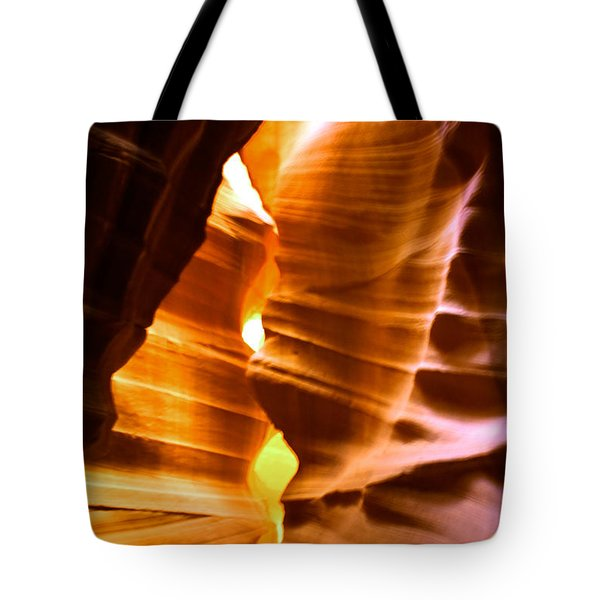 Antelope Canyon - Canyon Abstract Tote Bag by Aidan Moran