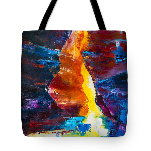 Antelope Canyon Light Tote Bag by Elise Palmigiani