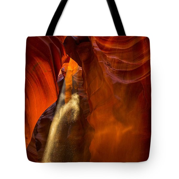 Antelope Canyon - Sand In The Light Tote Bag by Angela A Stanton
