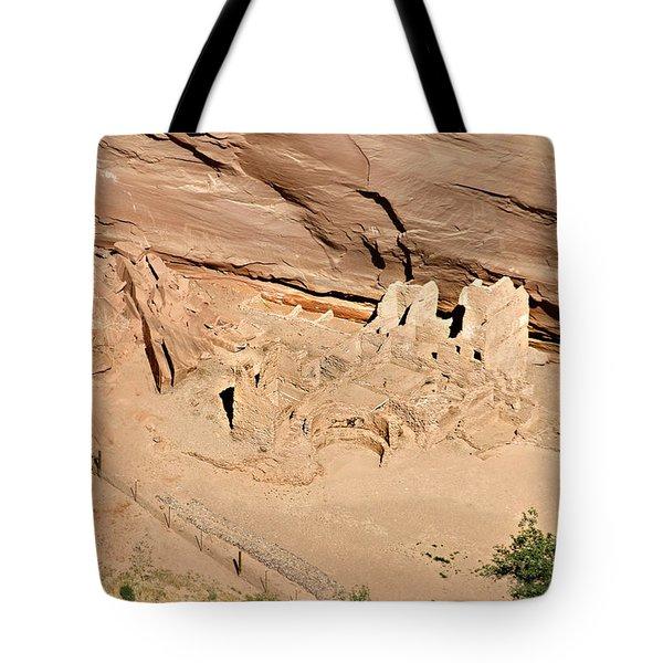 Antelope House Ruins Blending In Tote Bag by Christine Till