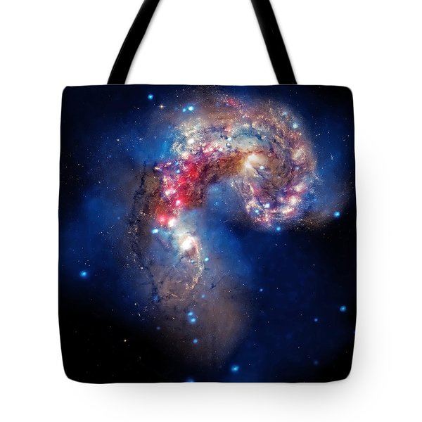 Antennae Galaxies Collide 2 Tote Bag by Jennifer Rondinelli Reilly - Fine Art Photography
