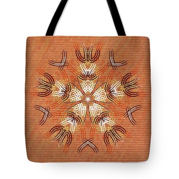 Anthropomorphic Mandala Tote Bag by Hakon Soreide