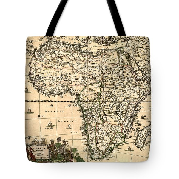 Antique Africa Map Tote Bag by Gary Grayson