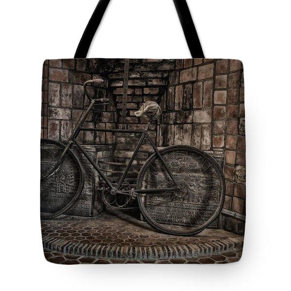 Antique Bicycle Tote Bag by Susan Candelario
